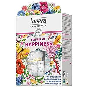 Lavera I Am Full Of Happiness Coffret Cadeau Trio Basis Sensitiv Cosmétiques Naturels Ingrédients Végétaux Bio 100…
