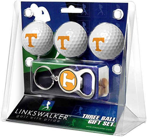 LinksWalker 3 Tennessee Volunteers-3 Ball Gift Pack with Key Chain Bottle Opener, White, One Size B01CIHMT1K