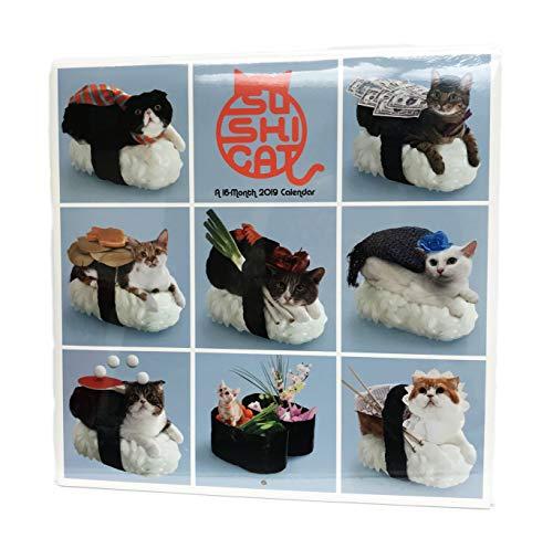 - Sushi Cats 16 Month 2019 Wall Calendar