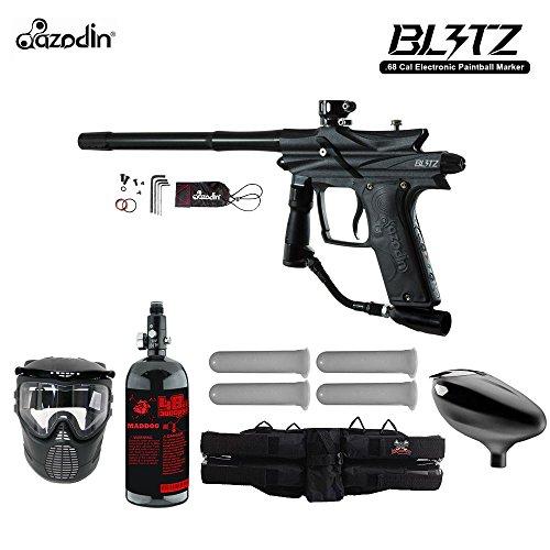 Azodin Blitz 3 Starter HPA Paintball Gun Package - Black Autococker Trigger