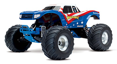Traxxas Bigfoot 1/10 Scale Ready-to-Race Monster Truck, Red/White/Blue