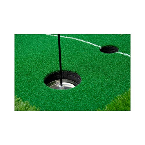 Paradise Treasures Golf Putting Green System Professional Practice Green Long Challenging Putter Indoor/Outdoor Golf Simulator Training Mat Aid Equipment Gift for Dad (2.6ftx10ft 2 Lane Green) by Paradise Treasures (Image #2)
