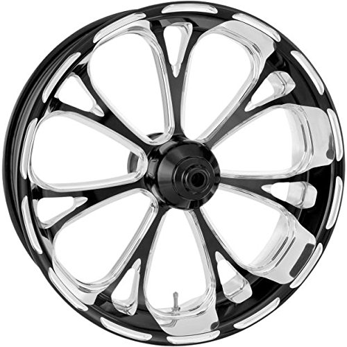 Performance Machine Virtue Platinum Cut 21x3.5 Front Wheel (Dual Disc), Color: Black, Position: Front, Rim Size: 21 12047106VIRJBMP