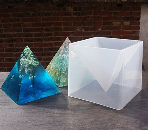 Big DIY Pyramid Resin Mold Set, Large Silicone Pyramid Molds, Jewelry Making Craft Mould Tool, 15cm/5.9'' by VTurboWay