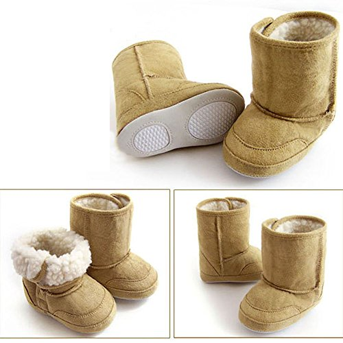Baby Toddler 6-18 Month Prewalker Shoes Cute Warm Winter Snow Boots (X-Large(9-12 Month), Brown)