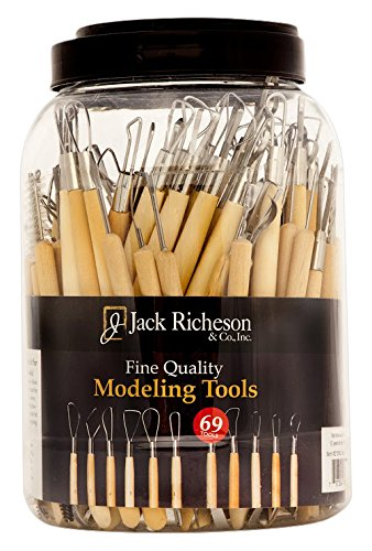 Jack Richeson 69 Piece Modeling Tool Canister Set by Jack Richeson