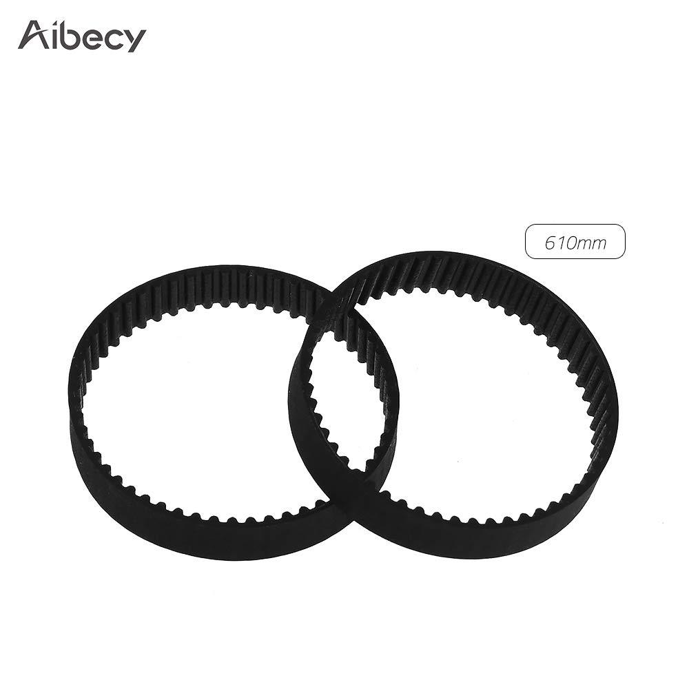 Festnight Aibecy GT2 Zahnriemen mit geschlossenem Regelkreis Gummi W = 6 mm 1220mm 3D-Drucker-Teile-Kits 2er Pack L = 110//112//158//200//280//400//610//852