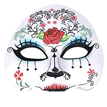 Womens Day Of The Dead Sugar Skull Mask