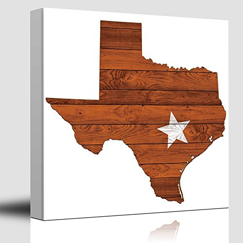 Austin Star Burnt Orange and White Texas Rustic State Country Western Cowboy Wood Background Texture