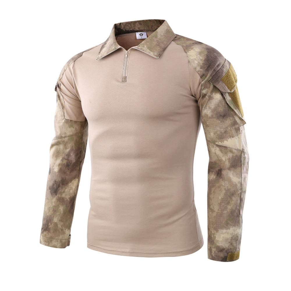 Táctico Camisa, ZARLLE Hombres Militar Ejército Hombres Manga larga Táctico Lucha Camisetas para al aire libre excursionismo Cámping Caza Pescar Alpinismo Para caminar