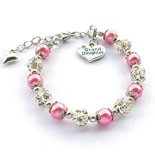 DOLON Fuchsia Faux Pearl Bracelet Gift for ()