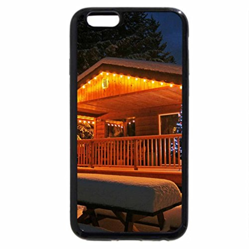 iPhone 6S / iPhone 6 Case (Black) Christmas Cabin!
