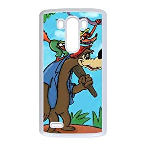 LG G3 Cell Phone Case White Song of the South Character Br'er Bear Personalized Protective Phone Case Cover XPDSUNTR33204