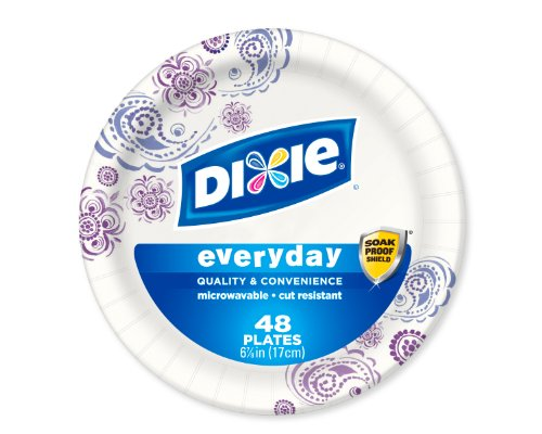 Dixie Heavy Duty Paper Plates, 6.875 Inch, 48 Count (Pack of 3) Dixie Heavy Duty Paper Plates