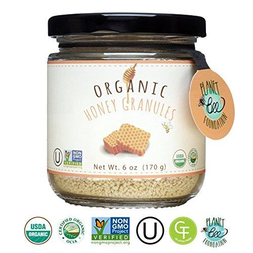 Honey Granules (GREENBOW Organic Honey Granules - 100% USDA Certified Organic, Gluten Free, Non-GMO Organic Honey Granules - Highest Quality Whole Food Organic Honey Granules – 6oz (170g))