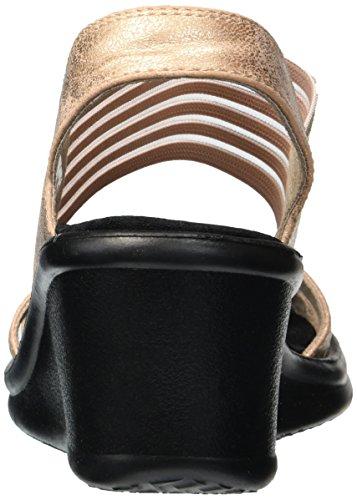 glam Skechers Gold Society De rose Talón Mujer Abierto Rosa Para Rumblers Sandalias 5SpS7Rq
