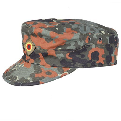 Heerpoint Reproduction German Flecktarn Camouflage Army Field Hat Baseball Cap Size (German Camouflage)