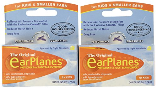 Ear Plugs - Children's Ear Protection for Airplane Travel - 2 pack
