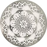 Glass Door & Window Repositionable Sticker Decal. 2 per Package -Shower Doors, Alert Birds, Dogs, Kids, Guests. Warn, Protect, Safety, Removable, Self Adhesive, Bird Alert. (Clear Mandala)