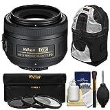 nikon 35 mm kit - Nikon 35mm f/1.8 G DX AF-S Nikkor Lens with 3 Filters + Sling Backpack + Kit for D3200, D3300, D5300, D5500, D7100, D7200 Cameras