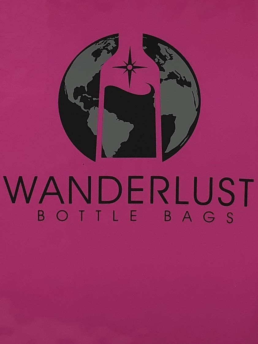 Amazon.com | 3 Pack Reusable Wanderlust Bottle Bags (PINK) by MoFlow & Co | Waterproof & Leak proof | Essential Travel Accessory | Great Gift for Wine Lover ...