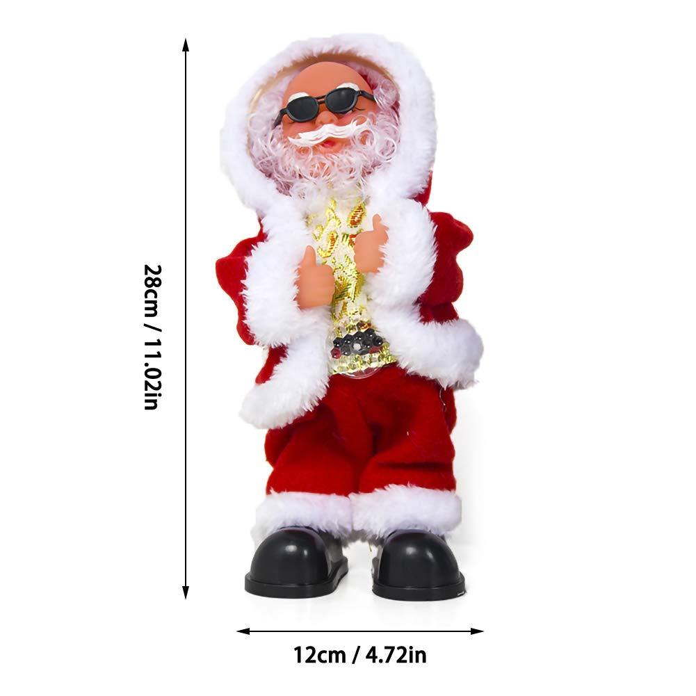 YOUNICER Reizender Elektrischer Singender Und Tanzender Weihnachtsmann Spielt Nettes Kinderbestes Geschenk Weihnachtsmann F/ür Weihnachten