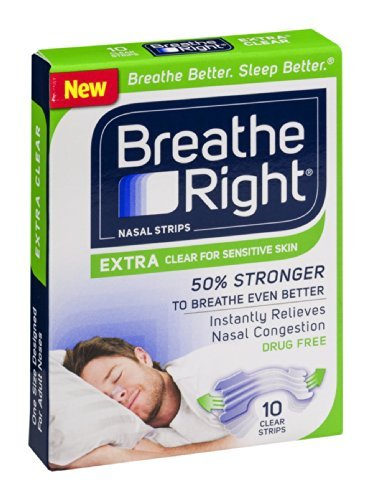 Breathe Right Extra Clear Nasal Strips by Breathe Right