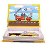 Transport Puzzle Toys Magnetic Book for Child Creative and Educational Gift for Kids by Hanmun - 68 pieces