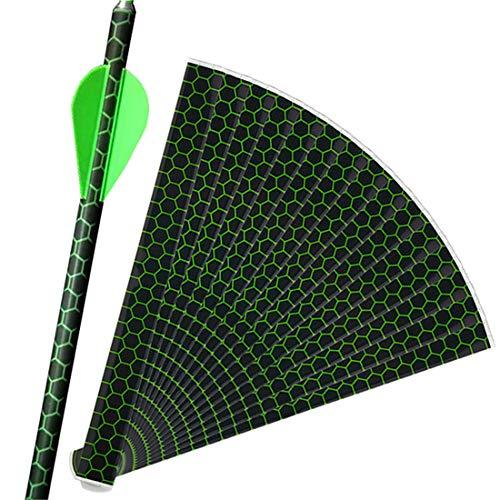 HRCHCG Arrow Sticker Heat Shrinkable Arrow Wraps Archery Fiberglass Carbon Wooden Bamboo Aluminum Arrow Colorful DIY Making Accessory (Green)