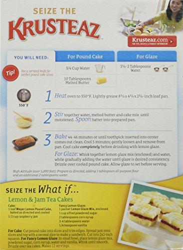 Amazon Com Krusteaz Meyer Lemon Pound Cake Mix 16 5oz Box Pack