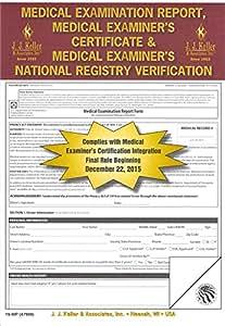 Amazon.com : J.J. Keller 47999 (19-MP) Medical Exam Report ...