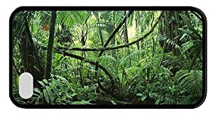 Hipster brand new iPhone 4S covers jungle forest TPU Black for Apple iPhone 4/4S