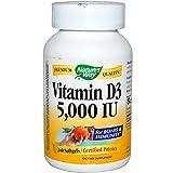 Natures Way Vitamin D3 5,000 IU Softgel – 240 Ea, 2 Pack For Sale