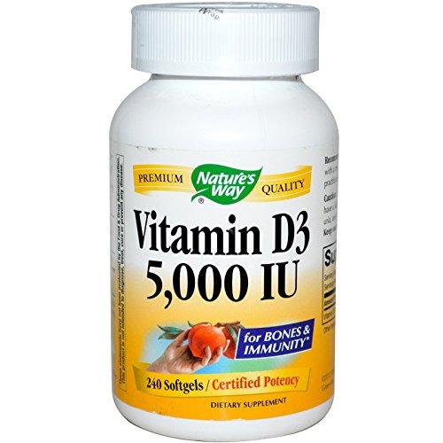 Natures Way Vitamin D3 5,000 IU Softgel - 240 Ea, 2 Pack