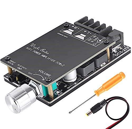 Zhiting Bluetooth Verstärkerplatinenmodul 2x50w Digital Stereo Audio Amp Board Zweikanal Dc 5v 27v Mit Hifi Filter Gewerbe Industrie Wissenschaft
