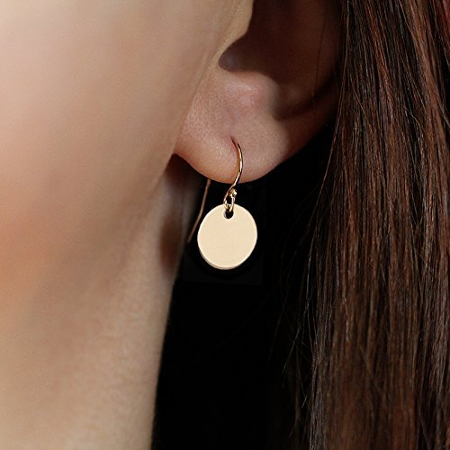 Disc Filled Gold (Simple Smooth 14k Gold Filled Tiny Disc Earrings - Smooth Shiny Finish)