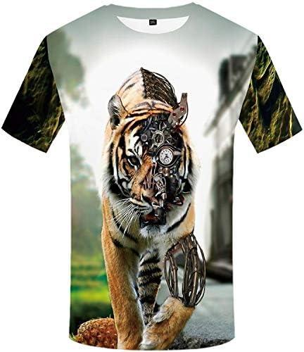 Camiseta con Estampado de Tigre mecánico de Manga Corta,Camiseta para Hombre, Camisas de Moda de Verano para Hombres Camiseta de Manga Corta Deportivas: Amazon.es: Ropa y accesorios