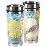 Lord Is My Shepherd Blue 16 Ounce Stainless Steel Travel Tumbler