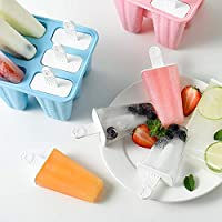 Ice Lolly Mould 6 Pieces Reusable Silicone Popsicle Mold Easy to Remove Ice Lolly Maker BPA Free and FDA Approved Ice Pop Mould
