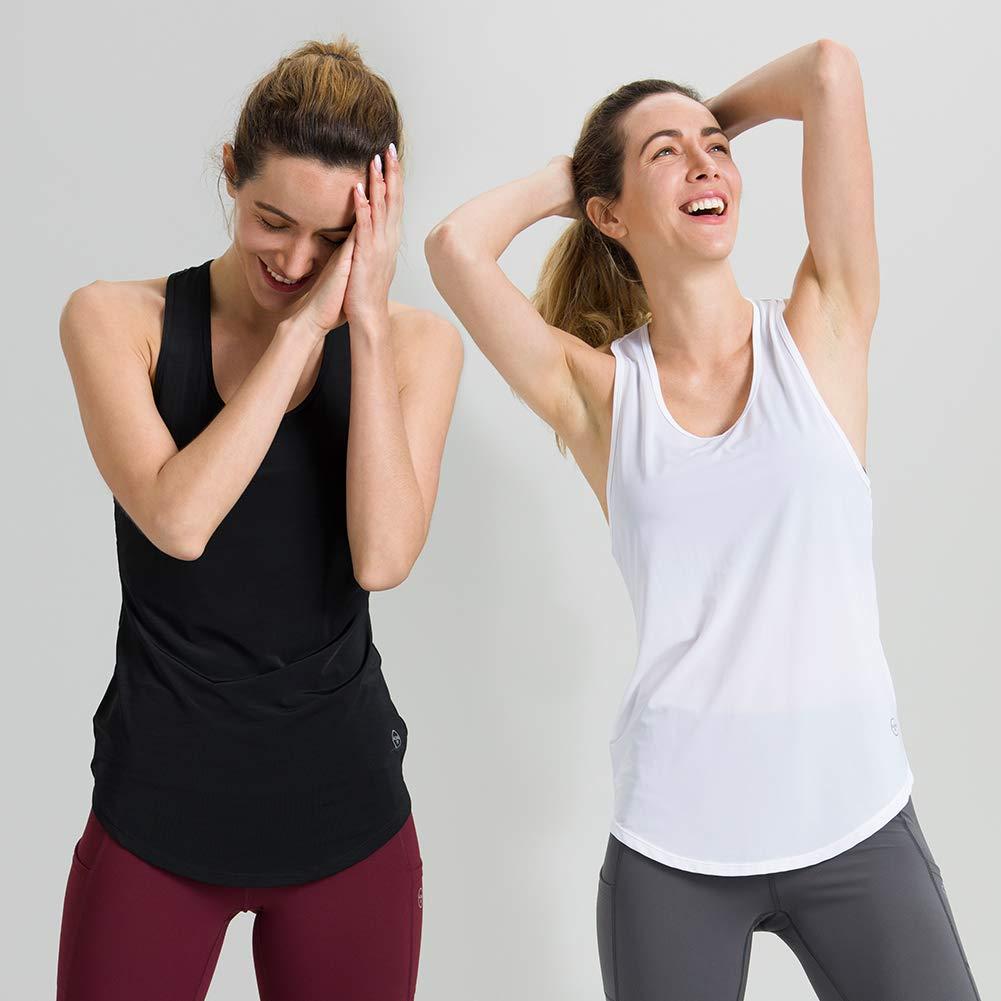 Amazon.com: Camiseta de tirantes para mujer, de ajuste largo ...