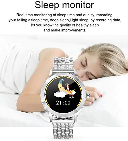 Womens Fitness Tracker Blood Pressure Heart Rate Monitor Activity Tracker Waterproof Pedometer Step Counter Calorie Sleep Monitor Touch Screen Bluetooth Smart Watch for Android iOS 3