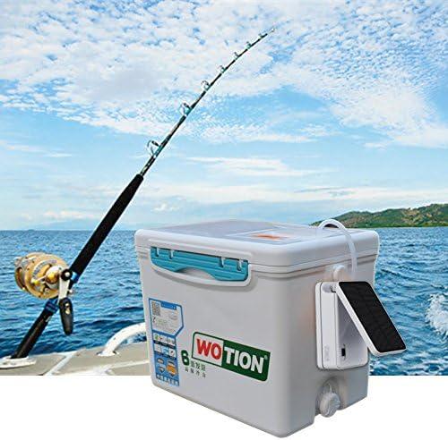 Bomba de aire solar Bomba de aire solar de la bomba de aire de la energ/ía solar del ox/ígeno 100 grados plegable acuario pesquero peces para el tanque de los pescados del acuario Pond la piscina