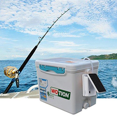 Air pump solar kit sunsbell solar powered pool pond fish for Solar fish for pools
