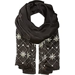 Ted Baker London Junior's Embellished Hot Fix Long Scarf, Black, One Size