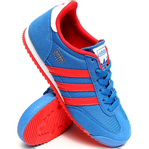 Adidas - Dragon J - Color: Blue-Red - Size: 6.0US