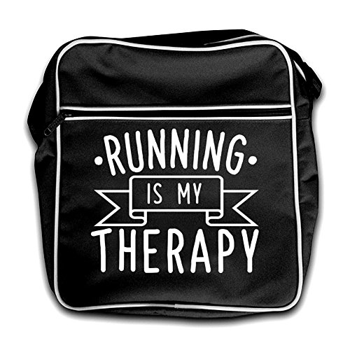 Running My Is Black Retro Black My Running Therapy Therapy Is Retro Flight Bag 4nEgqqwC