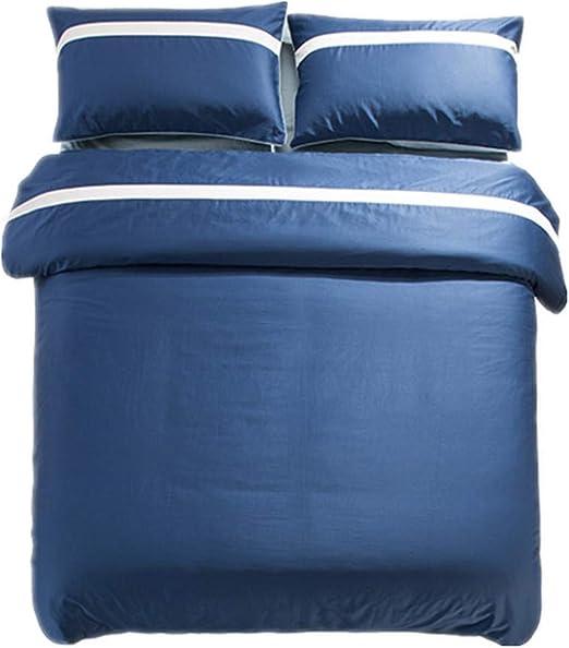 Cuatro Piezas de algodón Estilo nórdico Simple 60 edredón de algodón sábanas Fundas de Almohada Ropa de Cama 1.8m6 pies: Amazon.es: Hogar
