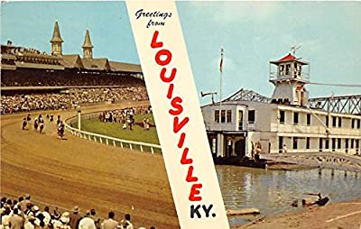 Kentucky Derby, Churchill Downs Louisville, Kentucky, KY, USA Old Vintage Horse Racing Postcard Post Card