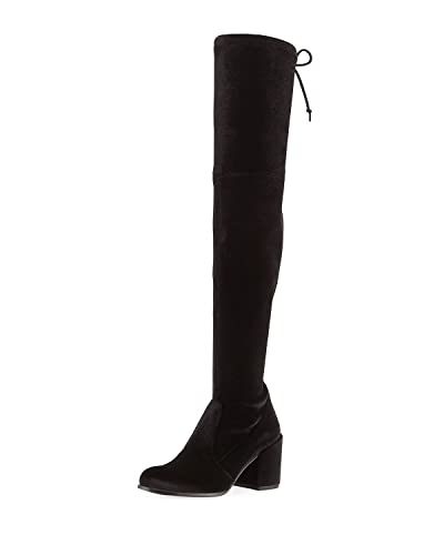 e681e2cd62f Image Unavailable. Image not available for. Color  Stuart Weitzman Tieland  Velvet Over-The-Knee Boot Size 8 M Black