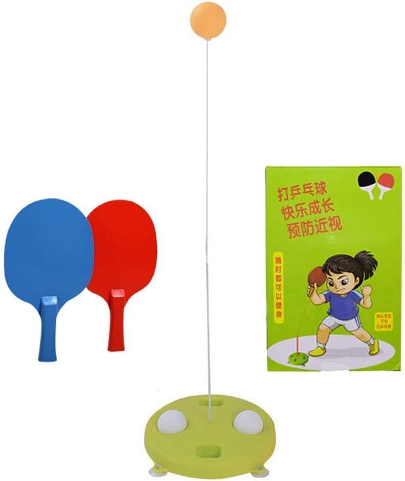WeiHaoJian Individual Mesa Tenis Entrenador Entrenamiento Equipment Juego Elástico Suave Eje Madera Ping Pong Bolas Paletas para Principiantes Niños - H01, Normal